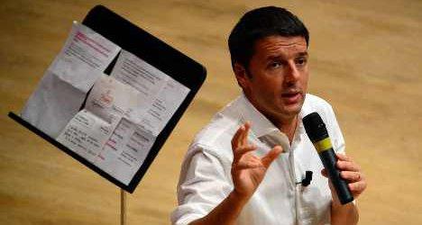 'Plump Renzi should wear a tie': Armani
