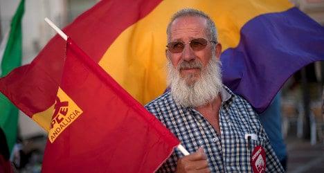 Spain's left-wing signs republican declaration
