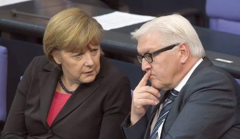 Steinmeier tops poll as Merkel's successor