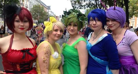 Rainbow parade kept the colours gay