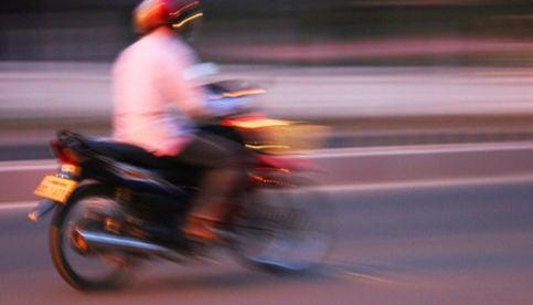 Three moped riders run over policeman