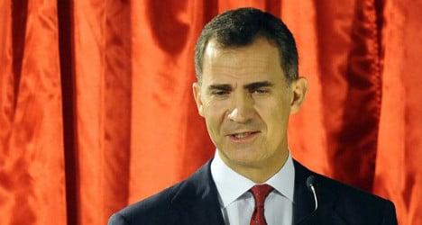 Spaniards must unite: Spain's future king
