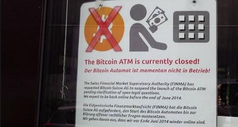 FINMA blocks launch of Zurich bitcoin ATM