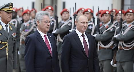 Putin's controversial state visit to Austria