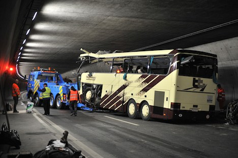 Forensic firm to 'recreate' fatal Sierre bus crash