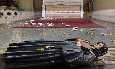 Church vandal released from custody
