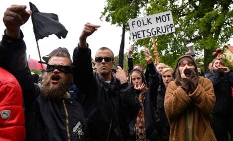 Scores protest neo-Nazi talks in Gotland