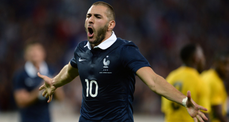 Benzema scores twice in France-Jamaica friendly