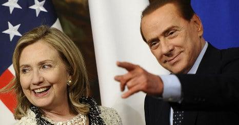 Berlusconi slur 'embarrassed' Clinton
