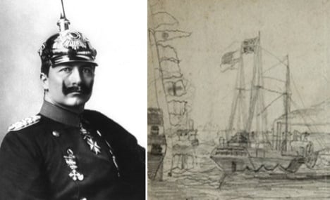 Kaiser's early love of sea surfaces in sketches