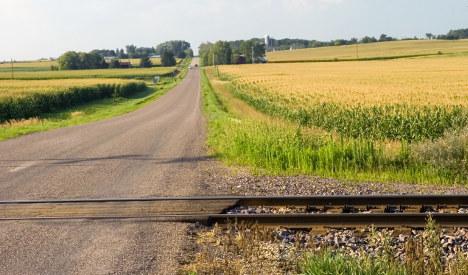 Man on lawnmower dies in freak train crash