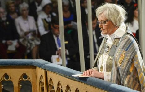 Sweden's first female archbishop sworn in