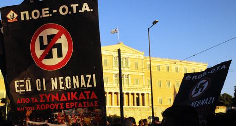 Italians protest neo-Nazi Golden Dawn fundraiser