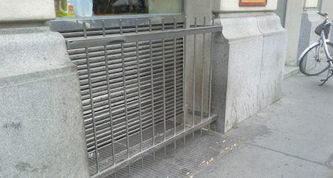 Vienna supermarket's 'anti-homeless measures'