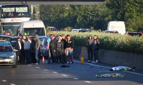 Knife-wielding man killed on motorway