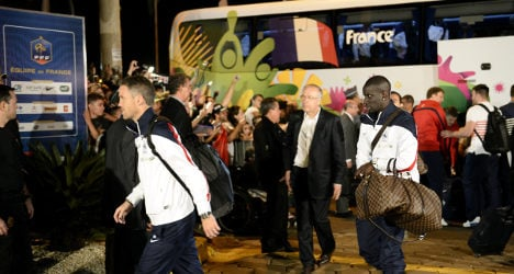 France arrive in Brazil ahead of World Cup