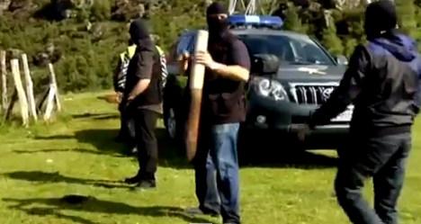 Police arrest four who created 'terror shrine'