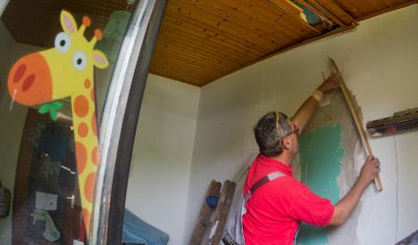 Wayward rocket destroys kid's bedroom