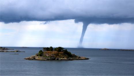 Mini-tornadoes stun southern Norway