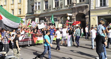Woman injured at Innsbruck Gaza demo