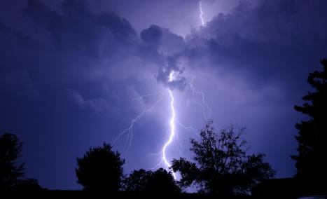 Family of four struck by one lightning bolt