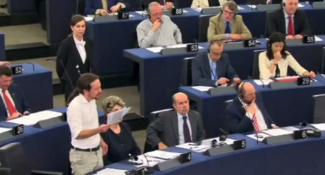 Stormy EU debut for Spain's 'indignant' MEP
