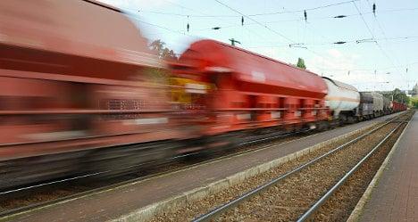 Freak train crash sees driver killed by own car