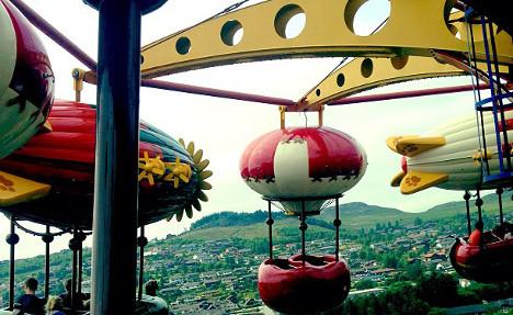 Thrill-seekers in carousel ride terror