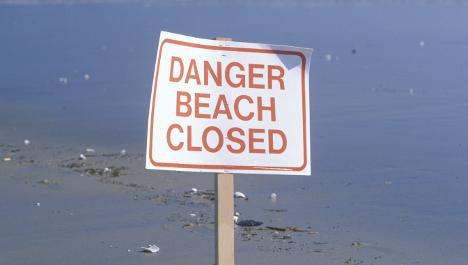 Landmine detonated on Norwegian beach
