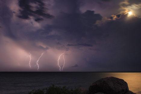Lightning stikes Denmark as sunny stretch snapped