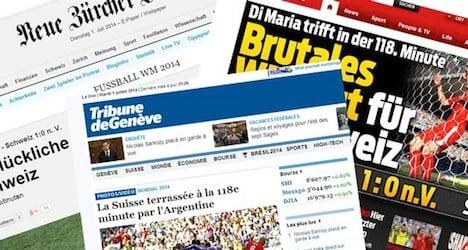 Swiss media lament 'cruel' and 'bitter' defeat