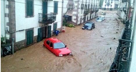 Wild weather: Floods hit Spain's Navarre region