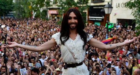 Conchita Wurst opens Madrid Gay Pride