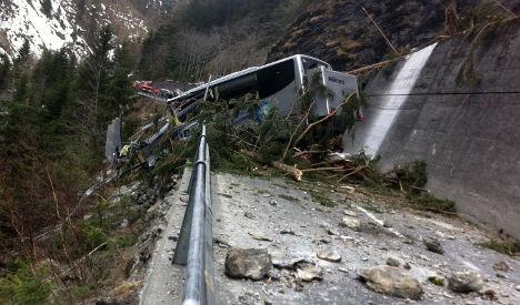 One dead after Swiss landslide causes carnage