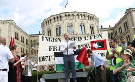 Pro-Palestinian protests across Norway