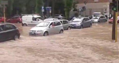 Floods hit Milan as river overflows
