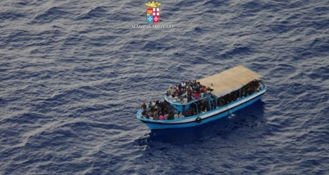 Italian navy saves migrant woman in labour