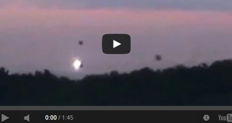 VIDEO: UFOs spotted in sky over Dordogne