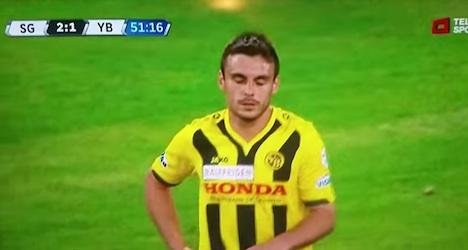 Bern football player's own goal goes global