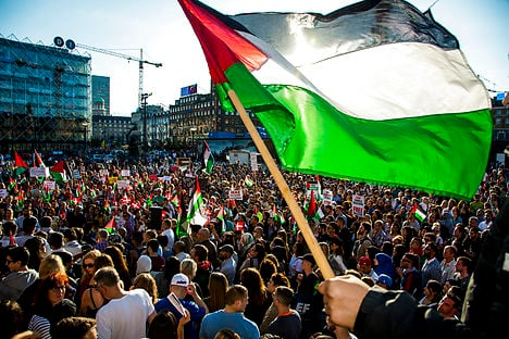 Copenhageners show their support for Gaza