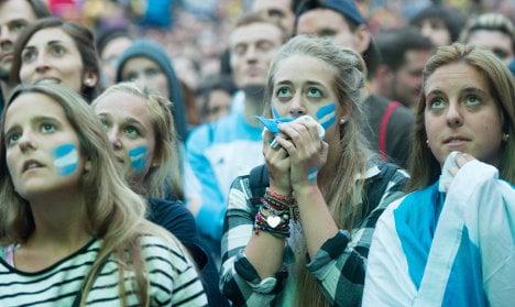 Argentina fans in Berlin: 'We were just unlucky'