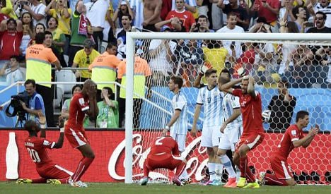 Swiss lose extra-time heartbreaker to Argentina