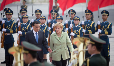 Germany and China sign string of trade deals