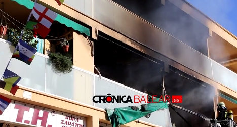 UK tourists torch Magaluf building in failed prank