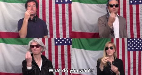 Americans taught how to 'rap' Italian gestures