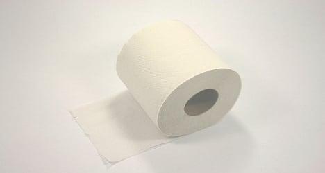 In the merde: Used toilet paper snares burglar