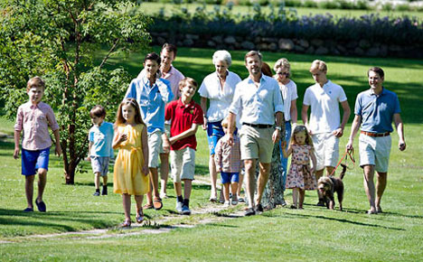 IN PICTURES: Danish royals' family photo