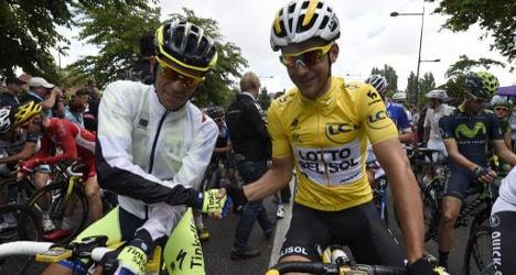 Tearful Contador crashes out of Tour de France