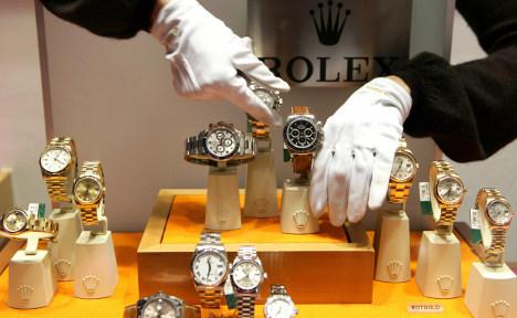 Trash can masks luxury watch raid