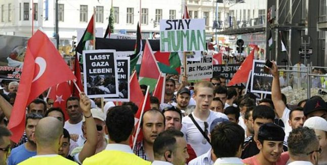 Demonstration against Israeli attack on Gaza